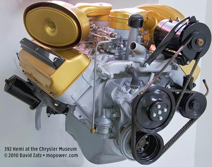 Chrysler 1957 392 Hemi FirePower V8 engine