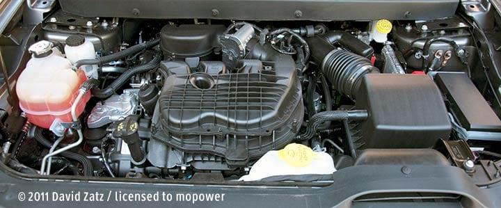 Pentastar engine under cover