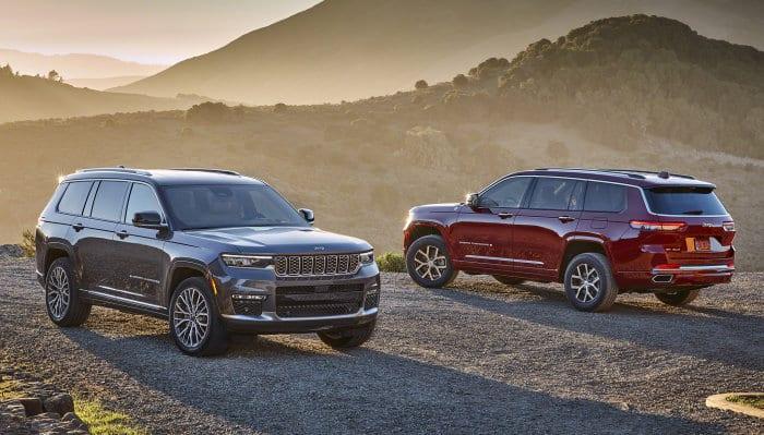 All-new 2021 Jeep Grand Cherokee L Summit Reserve (left) and All-new 2021 Jeep Grand Cherokee L Overland (right)