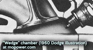 wedge combustion chamber (B-engines)