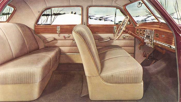 1949 Dodge car interior