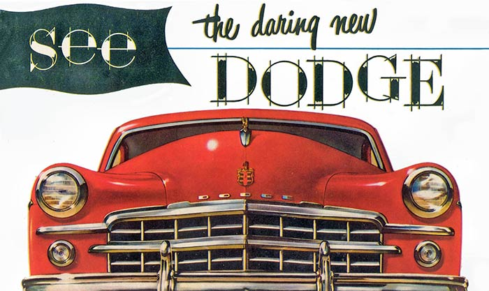 see the 1949 Dodge cars