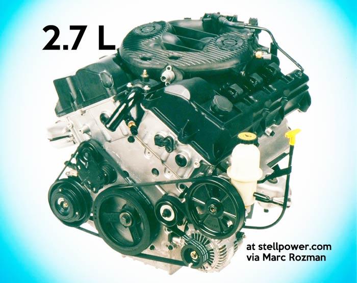 2.7 liter v6
