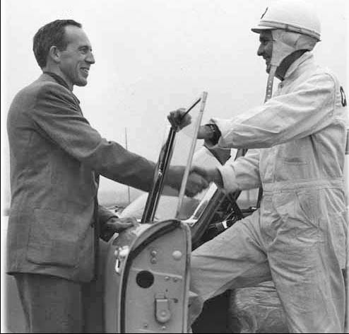 Bob Rodger with test driver
