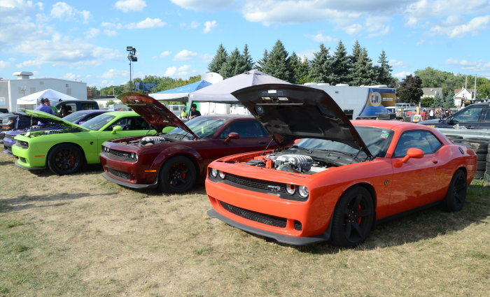 Dodge Challenger Group at Roadkill Nights