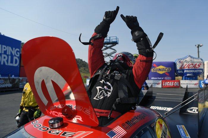 Matt Hagan Dodge Charger Hellcat Win