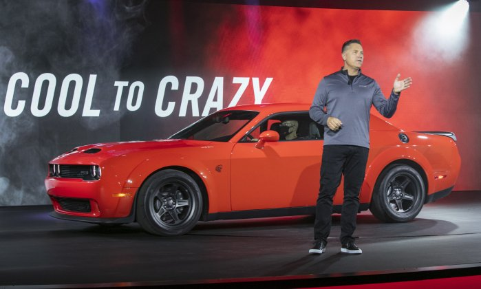 Tim Kuniskis with the Dodge Challenger