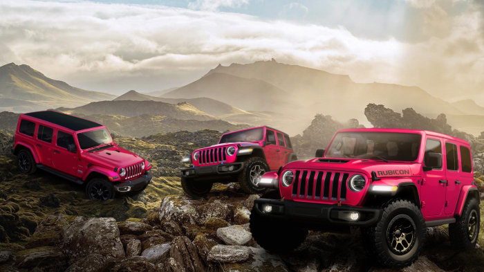 2021 Jeep Wrangler in Tuscadero exterior paint color