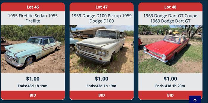 sparkys Mopar Texas auction