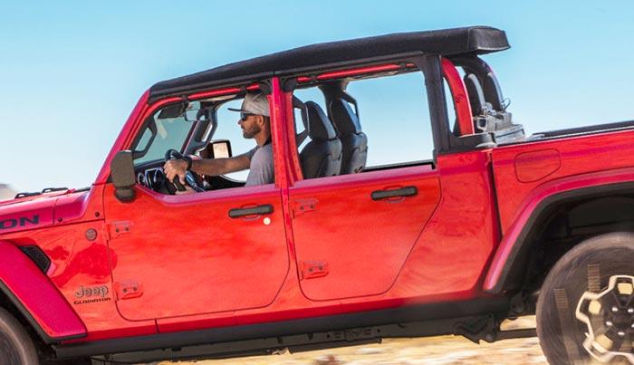 2022 Jeep Gladiator with Mopar half doors